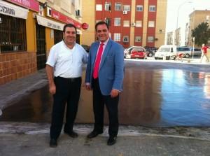 Con Juan Ríos a un día de la finalización.