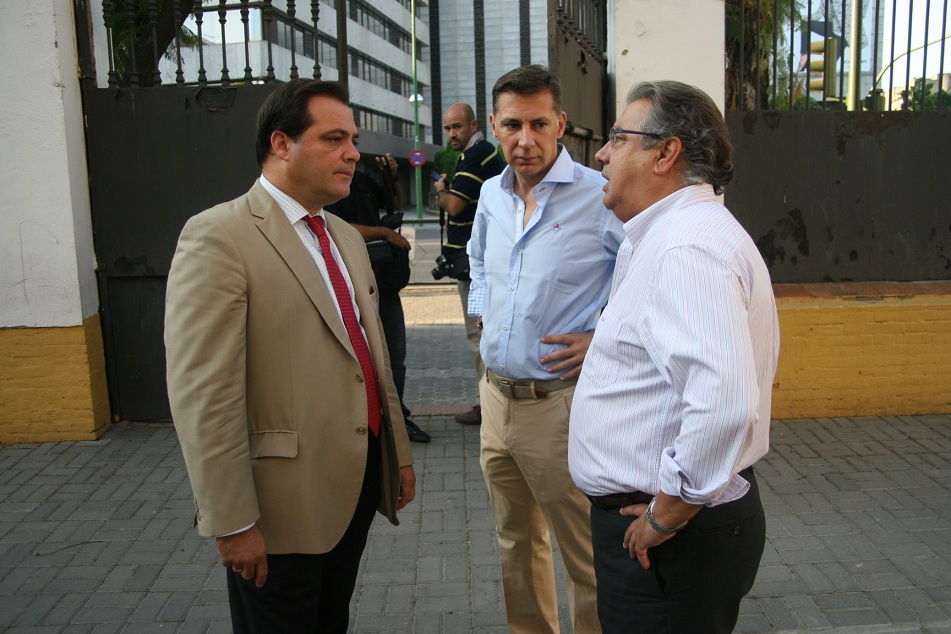Jaime Ruiz, Javier León y Juan Ignacio Zoido.