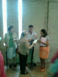 El delegado, Jaime Ruiz, estuvo presente en la publicación de las listas.