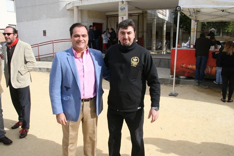 Con José Antonio del Castillo, presidente de Nuestro Padre Jesús del Perdón.