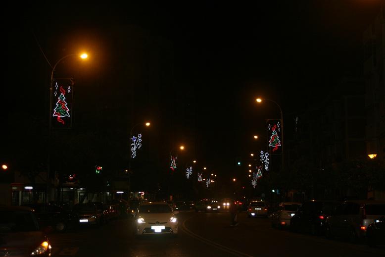 La avenida de Pedro Romero se iluminó el año pasado y también se iluminará éste.