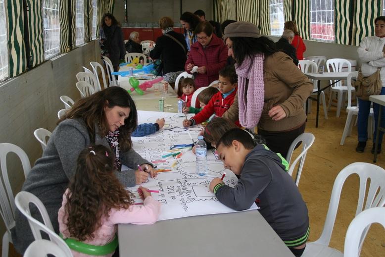 El taller de Pintura fue de los más solicitados por los jóvenes.