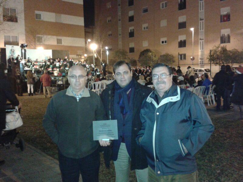 Con José Luis Serrano y José Tutor de la Peña Bética El Fontanal