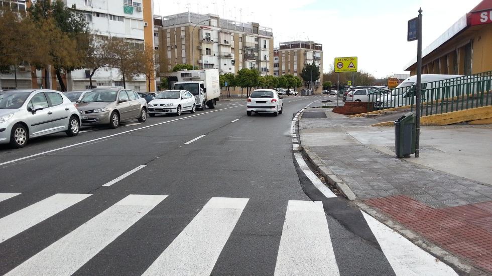 El repintado de los carriles ayudará a la seguridad vial