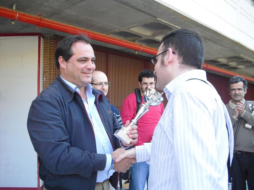Con el 1er clasificado del torneo, Carlos Morales Cano
