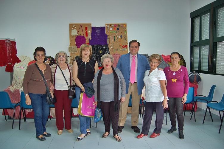 Con Teresa Sánchez y sus alumnas de Macramé