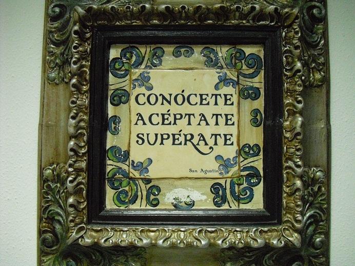 Imagen que tomé en el despacho de Jesús Manuel con una inspiradora cita de San Agustín.