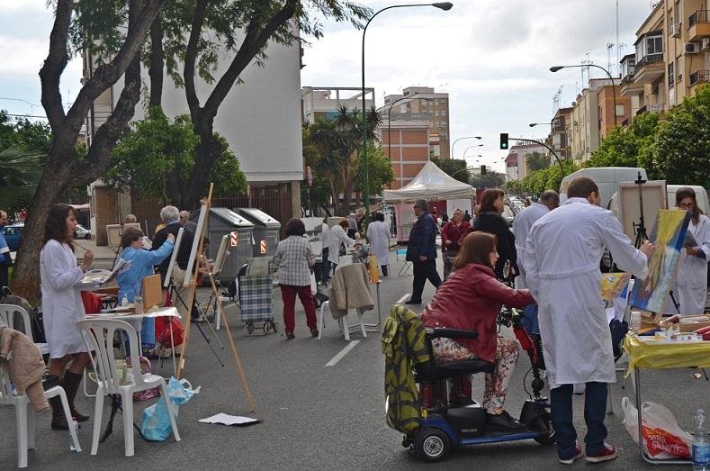 pintores en la avenida El Greco