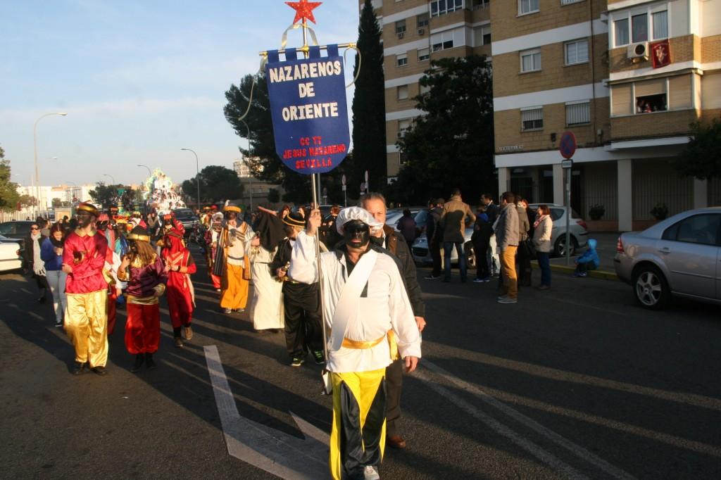 La banda de Cornetas y Tambores Jesús Nazareno de Sevilla tuvo el privilegio de encabezar el Cortejo.