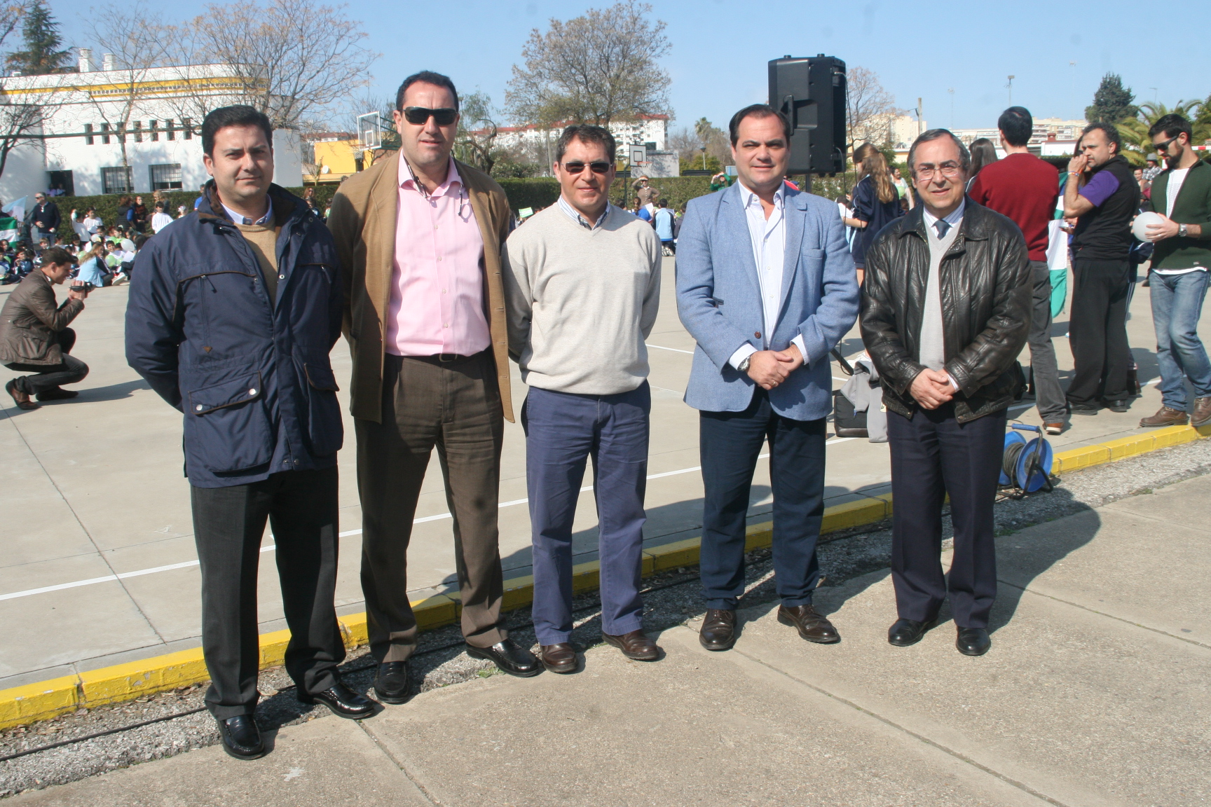 Miguel Cáceres, José María Carrasco, Álvaro Martín, Jaime ruiz y Jesús Manuel Gutiérrez.
