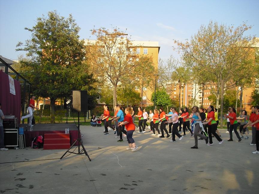 El II Encuentro de Aeróbic también se celebró en el parque de Santa Justa en marzo de 2014.