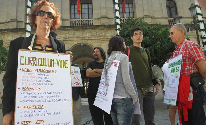 Protestas ante el Ayuntamiento el pasado 15 de octubre