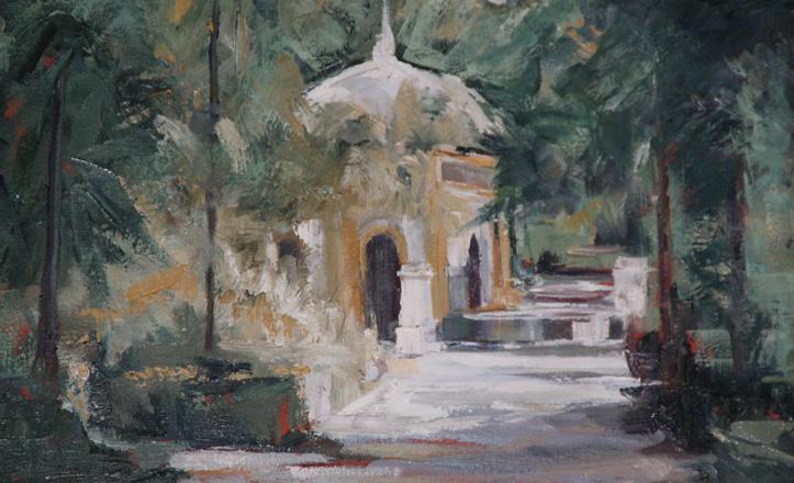 El parque de María Luisa. Uno de los muchos cuadros de Lola