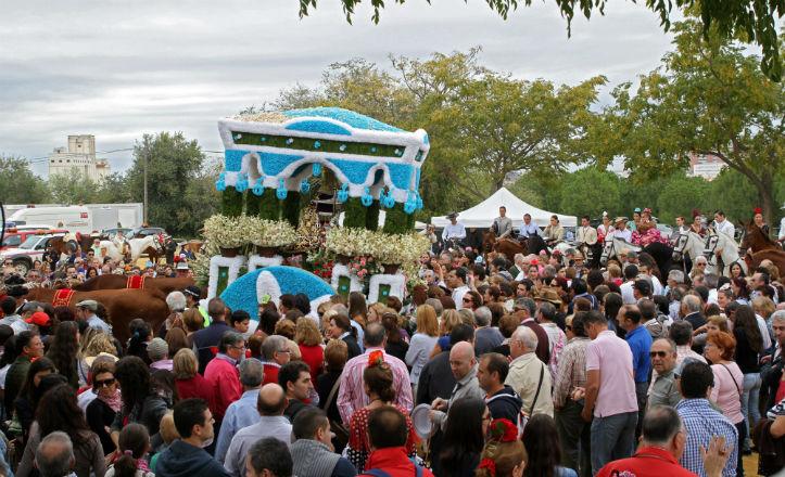 La Virgen de Valme llegando al Cortijo del Cuarto el pasado domingo