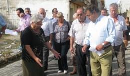El alcalde, durante una visita a Padre Pío