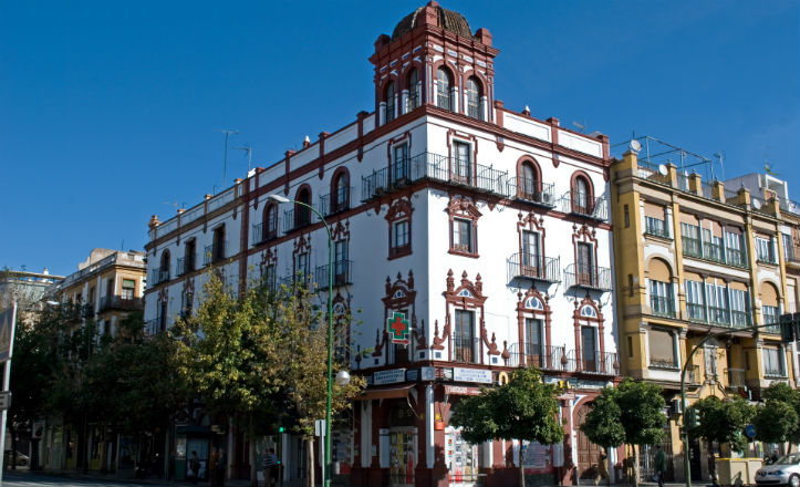 Calle Demetrio de los Ríos esquina con Menéndez Pelayo