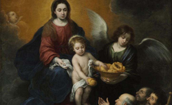 La virgen y el niño repartiendo pan, de Murillo