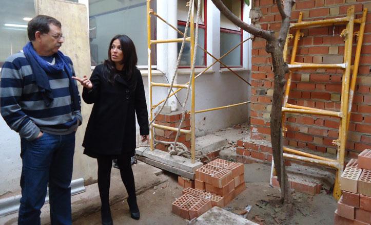 Obras en colegio San José Obrero en Macarena