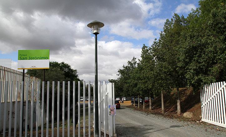 Puerta de entrada del Parque de San Jerónimo