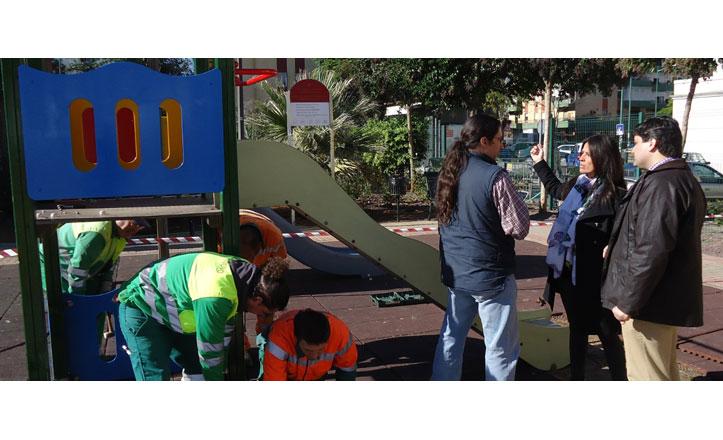 Aumenta el número de juegos infantiles en los parques del distrito Macarena