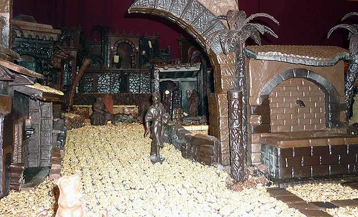 El belén de chocolate del Círculo Mercantil.