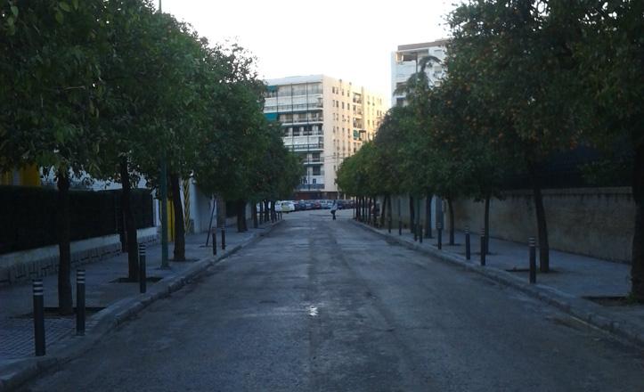 La calle tramontana reasfaltada