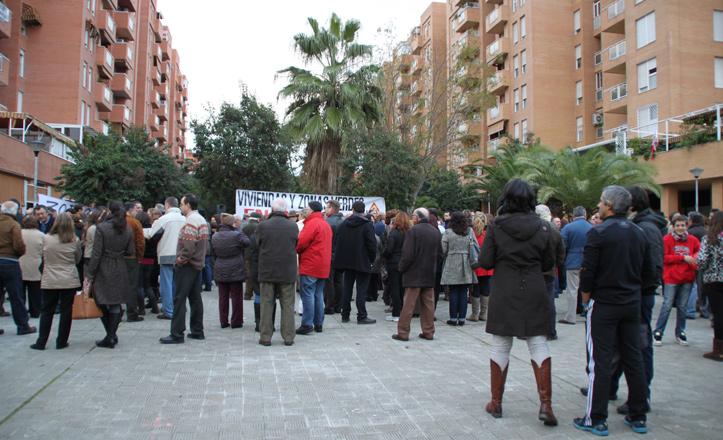 Imagen correspondiente a la manifestación vecinal que tuvo lugar el martes