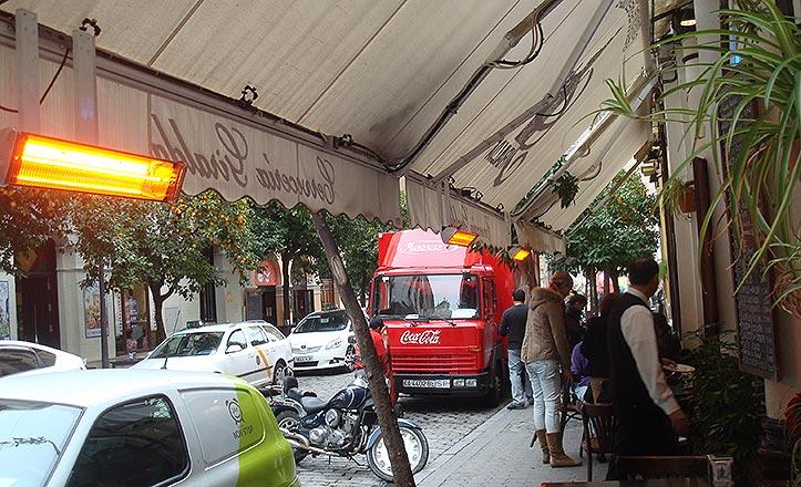 Calefactores de la cervecería Giralda.