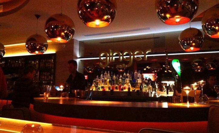 El interior del pub de Ginger en la avenida de la Innovación