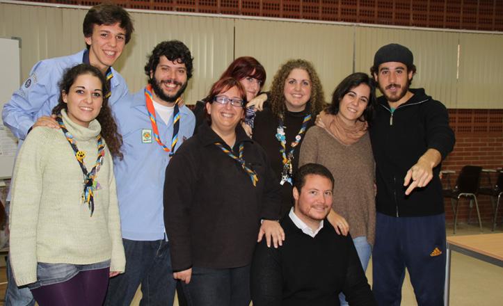 Los monitores del grupo scouts de Sevilla Este