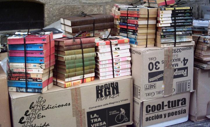 Mercadillo literario en la calle Regina