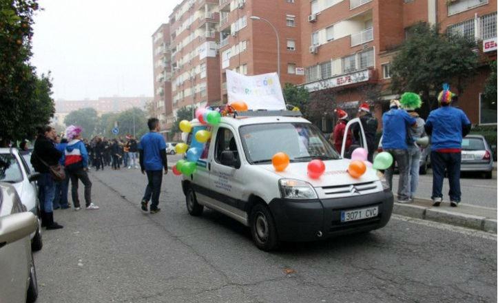 Operación carretilla 2011 del grupo joven de la hermandad de La Juncal
