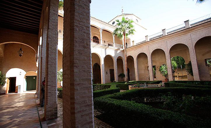 El patio del palacio de los Marqueses de la Algaba
