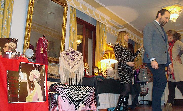 El show-room en una de las habitaciones del hotel Inglaterra