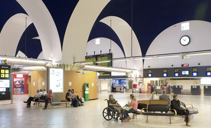 El interior del aeropuerto de San Pablo