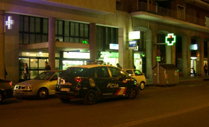 Farmacia De República Argentina momentos después del atraco