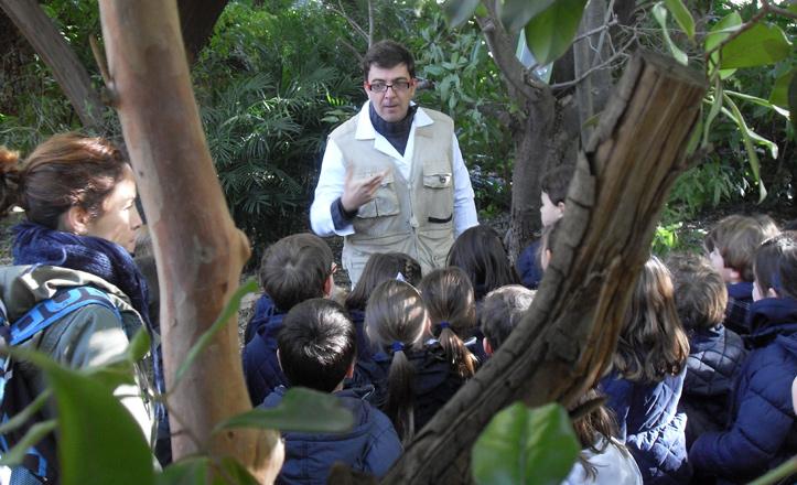 Una de las lecciones impartidas por un botánico en el Jardín Americano