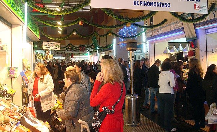 El mercado de Pino Montano.