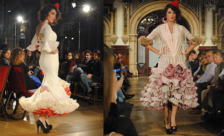 La modelo Noelia López con los diseños de Carmen Jarén en «We love flamenco»