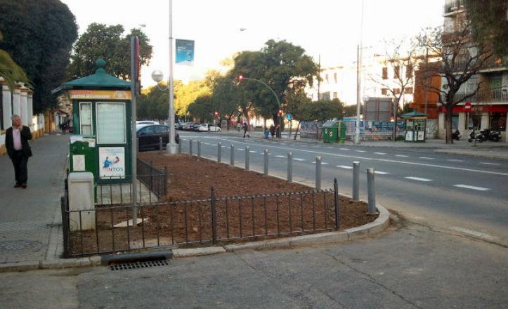 Nuevos parterres en la avenida Eduardo Dato