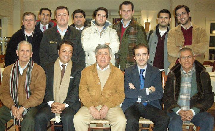 Miembros de la tertulia Taurina El Porvenir