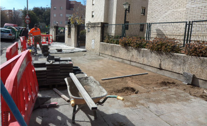 Obras en la calle Bogotá