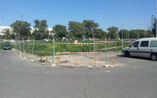 Obras del aparcamiento de la calle Mandarina