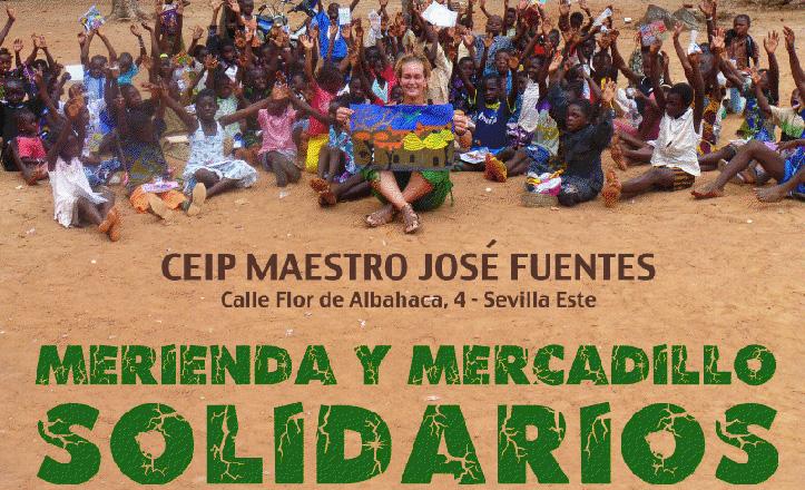 Cartel del mercadillo-merienda por Burkina Faso