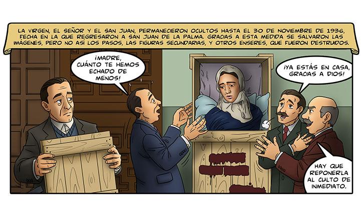 Una de las viñetas dedicadas a la Hermandad de la Amargura
