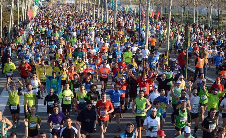 Gran participación en la maratón