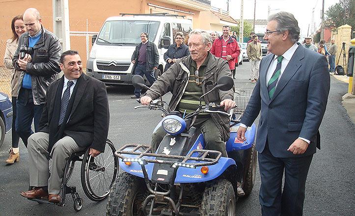Juan Ignacio Zoido con Esteban Expósito y Juan García Camacho.