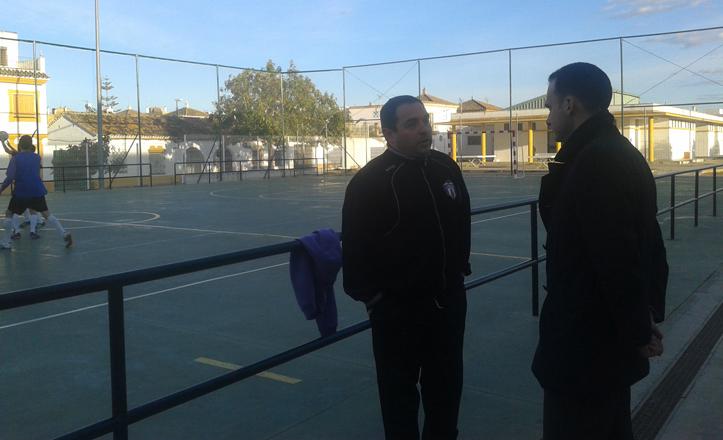 Rafael Belmonte con el director de Payasos Crouss