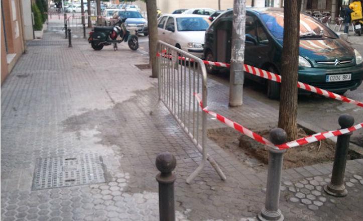 Obras en la calles de Nervión