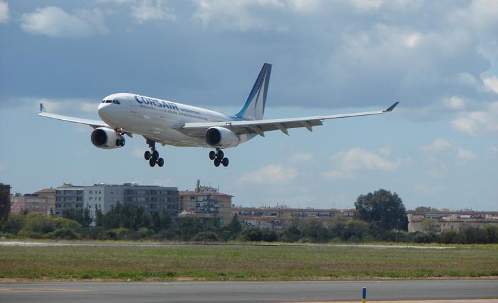 El A330-200 aterrizando en San Pablo